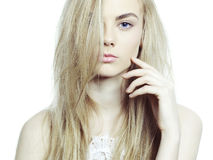 Schöne Blondine Stockfotografie