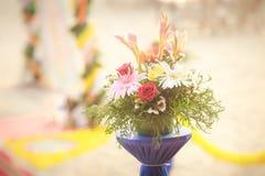 Schöne Blumen auf indischer Hochzeit Lizenzfreie Stockfotos