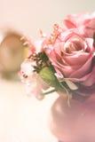 Schöne Blumen mit gefiltertem Hintergrund der Weichzeichnung Farbe Stockfotos