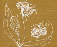 Schöne Blumen von der weißen Linie Stockfotografie