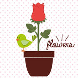 Schöne Blumenauslegung Lizenzfreies Stockbild