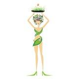 Schöne Blumenfrau Lizenzfreies Stockfoto