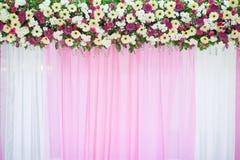 Schöne Blumenhochzeitsdekoration stockfoto