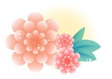 Schöne Blumenverzierungs-Dekorationsillustration Stockfotografie
