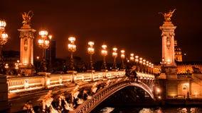 Schöne Brücke von Alexandre III lizenzfreies stockfoto
