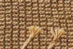 Schöne braune Strickgarnbeschaffenheit Lizenzfreies Stockbild