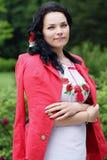 Schöne Braut in der Jacke Stockfotos
