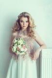 Schöne Braut im Hochzeitskleid Lizenzfreie Stockbilder