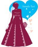 Schöne Braut mit Liebe Lizenzfreie Stockbilder