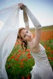 Schöne Braut mit Schleier Lizenzfreies Stockbild