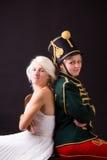 Schöne Braut und Husar Lizenzfreies Stockbild