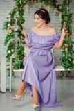 Schöne bridebefore Hochzeitszeremonie lizenzfreie stockfotografie