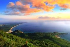 Schöne Bucht morgens Stockfoto