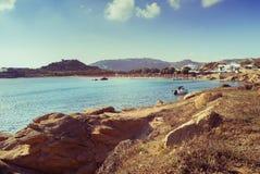 Schöne Bucht in Mykonos stockfotos