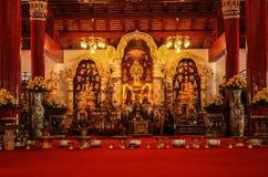 schöne Buddha-Bildhalle Lizenzfreies Stockbild