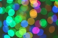 Schöne bunte Lichter Bokeh Effekt stockfoto