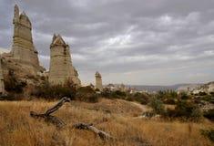 Schöne Cappadocian-Landschaft mit unusal Felsformationen, die Türkei Stockfoto