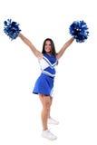 Schöne Cheerleader jugendlich mit Klammern Lizenzfreie Stockfotos