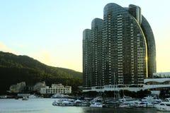 Schöne chinesische Stadt auf der Insel lizenzfreies stockfoto