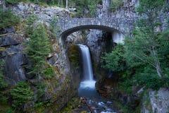 Schöne Christine Waterfall in Mt regnerischer Lizenzfreies Stockfoto