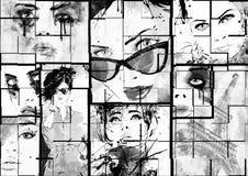 Schöne Collage Lizenzfreie Stockbilder