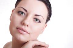 Schöne Dame mit gesunder Haut Stockfotografie
