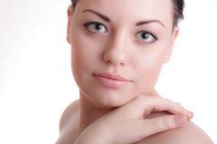Schöne Dame mit gesunder Haut Stockbilder