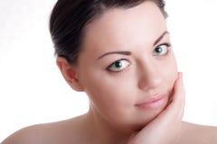 Schöne Dame mit gesunder Haut Lizenzfreies Stockbild