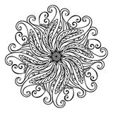 Schöne Deco-Mandala (Vektor) Stockfotografie