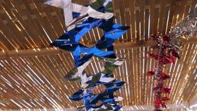 Schöne Dekorationen für Sukkot stock video
