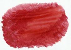 Schöne der Aquarellsteigung des hochroten Rotes horizontale gezeichneter Hintergrund Hand Lizenzfreie Abbildung