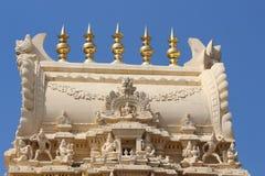 Schöne Draufsicht des Tempels in Süd-Indien Stockfotografie