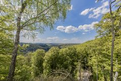 Schöne Draufsicht von Luxemburg-Wäldern stockbilder