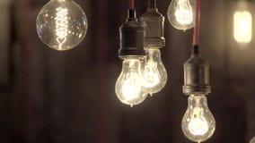 Schöne Edison-Lampen stock video footage