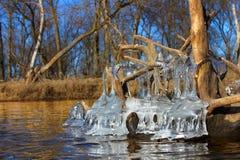 Schöne Eisbildungen Illinois Stockbild