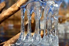 Schöne Eisbildungen Illinois Lizenzfreies Stockbild