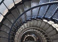 Schöne Eisentreppe innerhalb des Leuchtturmes von Sankt Augustine Stockfotografie
