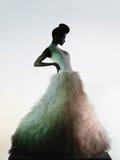 Schöne elegante Frau im Luxusabendkleid Lizenzfreies Stockfoto