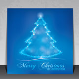 Schöne elegante Weihnachtsgrußkarte stock abbildung