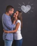 Schöne emotionale Paare Stockfotografie