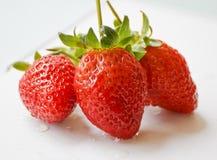 Schöne Erdbeeren Stockfoto
