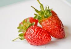 Schöne Erdbeeren Stockfotos