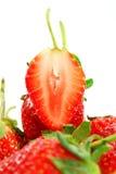 Schöne Erdbeeren auf Weiß Lizenzfreies Stockbild