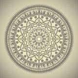 Schöne ethnische Mandala mit einem Blumenmuster Lizenzfreies Stockfoto