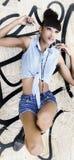 Schöne exotische junge Frau Lizenzfreie Stockfotos