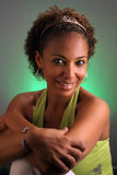 Schöne fällige schwarze Frau Headshot (3) Stockfoto