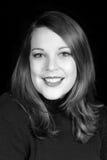 Schöne fünfundzwanzig Einjahresfrau im Schwarzen Stockfotografie