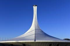 Schöne Fackel auf einem Hintergrund des blauen Himmels Lizenzfreie Stockfotografie