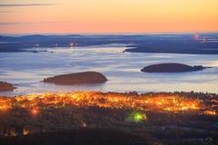 Schöne Fallfarben des Acadia-Nationalparks Lizenzfreie Stockbilder