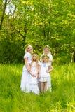 Schöne Familie Stockbild